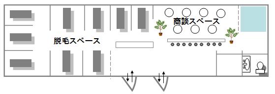銀座カラー大宮店の平面図