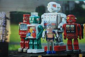 ロボットのような接客イメージ